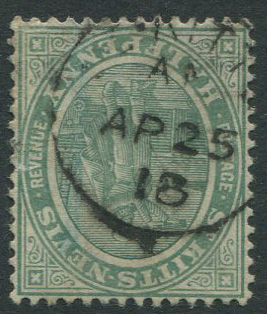 1918 ST KITTS AN AP 25 18 abbreviated village cds of Anguilla
