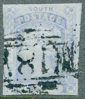 1851-5 New South Wales 2d dark blue (SG54)
