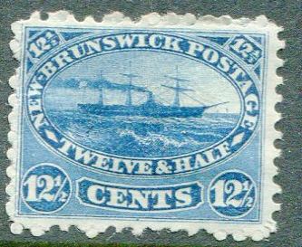 1860-3 New Brunswick 12½c indigo (SG18)