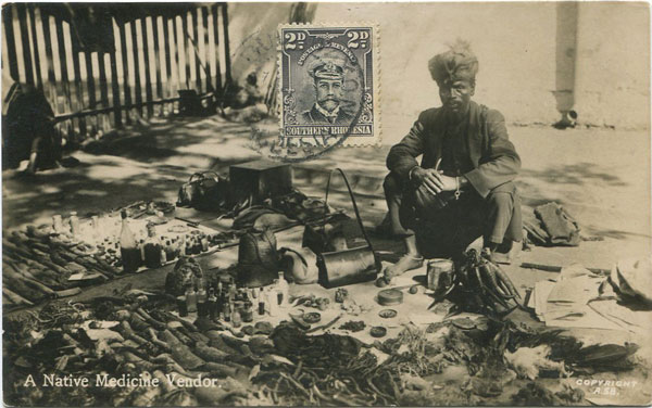 1924-29 Southern Rhodesia 2d on real photo postcard