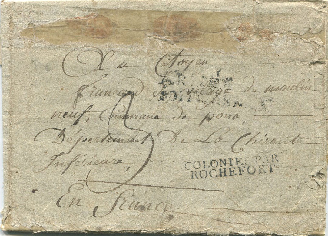 1800 EL from Cap Francoise, Haiti to France