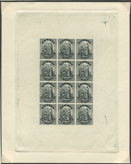 1861 Nevis set of 4 in complete sheets of 12.