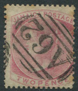 1860-70 Jamaica Pines 2d rose (SG2) with fine