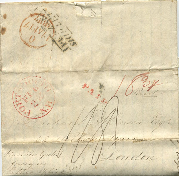 1837 (22 Feb) PORTSMOUTH N.H. red cds