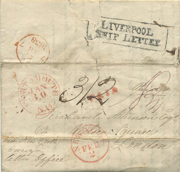 1838 (30 Jan) PORTSMOUTH N.H. red cds