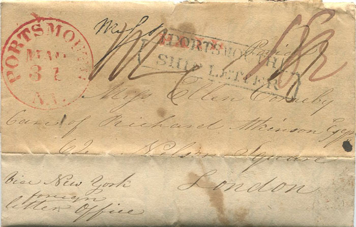 1837 (31 Mar) PORTSMOUTH N.H. red cds