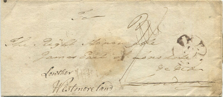 1788 BARBA/DOES two line mark on cover to London