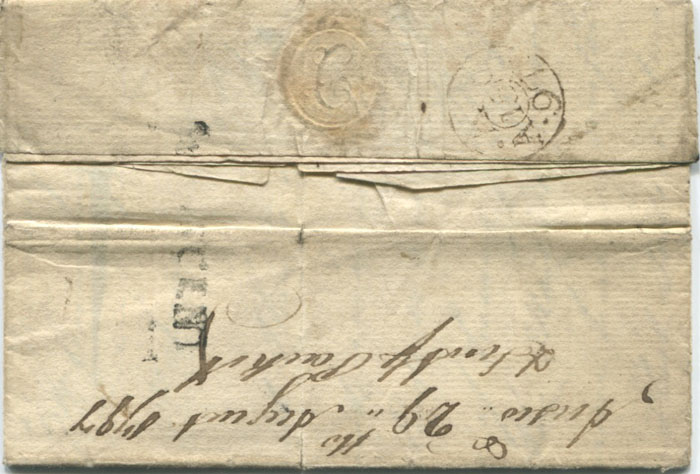 1797 (21 Jun) ST VINCENT h/s on EL from William Cunningham in St Vincent to Ireland