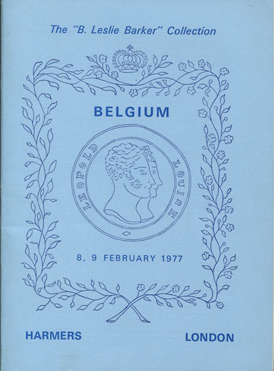 1977 (8-9 Feb) Leslie Barker collection of Belgium