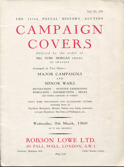 1960 (9 Mar) Campaign covers offered by the order of Mrs Sybil Morgan