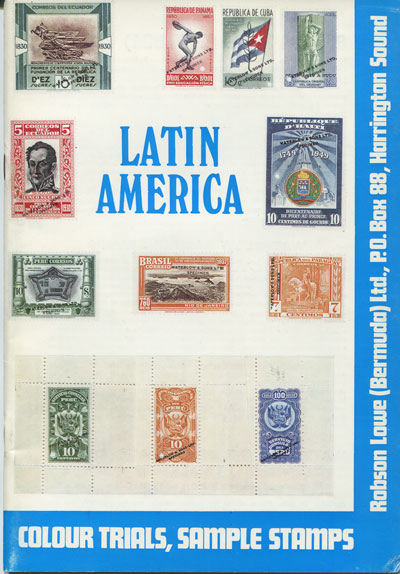 LOWE R. Latin America. - Waterlow Colour trials and sample stamps.