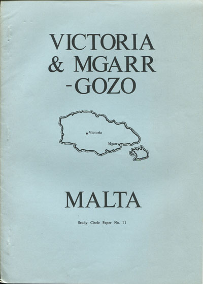 MALTA STUDY CIRCLE Victoria and Mgarr Gozo.