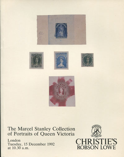 1992 (15 Dec) The Marcel Stanley collection of Portraits of Queen Victoria.