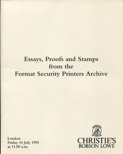 1995 (14 July) Essays, proofs and stamps from the Format Security Printers Archive.