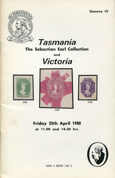 1980 (25 Apr) Tasmania. - The Sebastian Earl collection and Victoria.