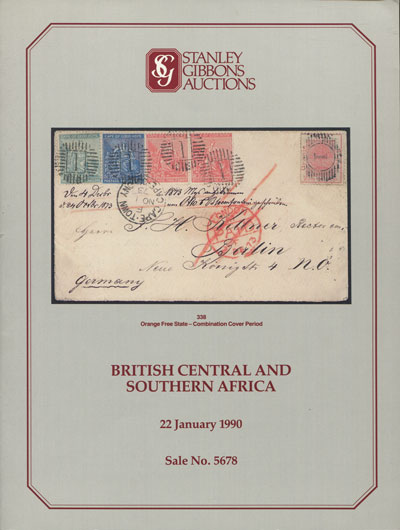 1990 (22 Jan) British Central Africa and Southern Africa.