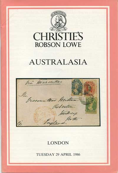 1986 (29 Apr) Australasia. - Includes Lester Shephard N.S.W., John Griffiths South Australia, Tasmania and Purves Victoria.