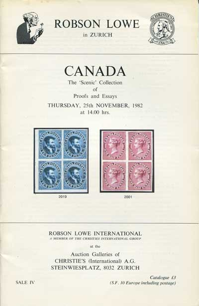1982 (25 Nov) Canada. The Scenic collection of proofs and essays.