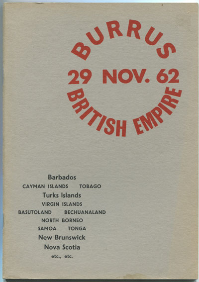 1962 (29 Nov) Burrus British Empire. - Fine Barbados, New Brunswick, Nova Scotia, Tobago and Turks Is.