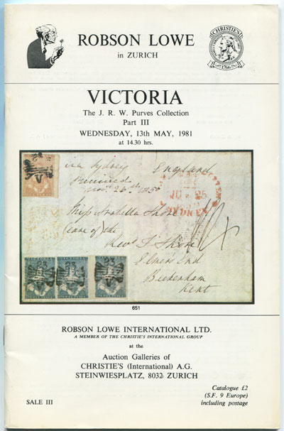 1981 (13 May) Victoria.  The J.R.W. Purves collection. Part III.
