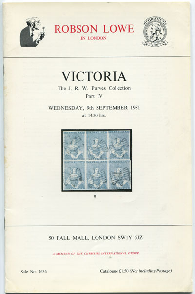 1981 (9 Sep) Victoria. The J.R.W. Purves collection. Part IV.
