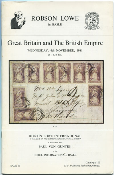 1981 (4 Nov) Great Britain and the British Empire.