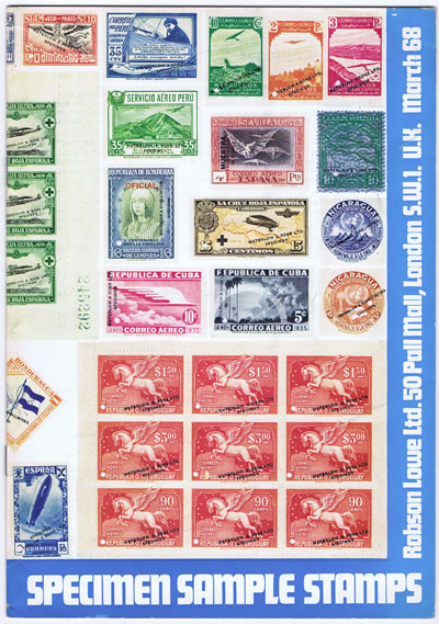 1968 (Mar) Waterlow & Sons Specimen Sample Stamps.