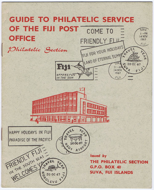 FIJI Guide to Philatelic Service of the Fiji Post Office Philatelic Section.