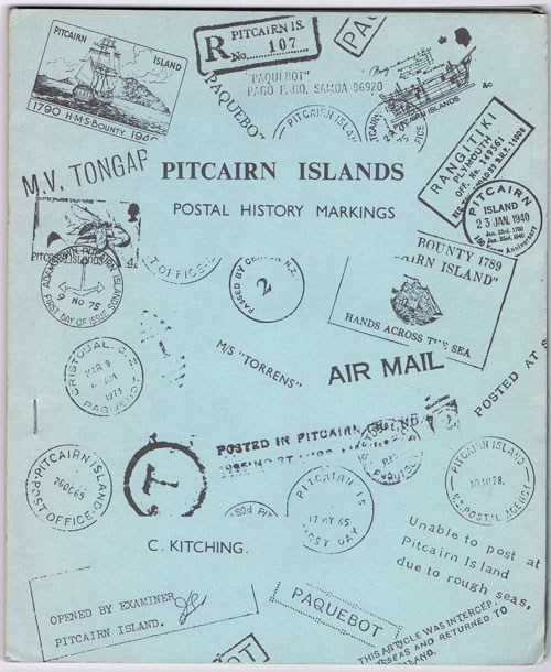 KITCHING C. Pitcairn Islands Postal Markings.