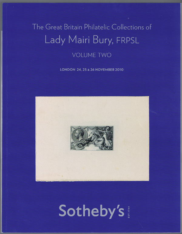 2010 (24-26 Nov) The Great Britain Philatelic Collections of Lady Mairi Bury.