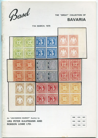 1970 (11 Mar) The Great collection of Bavaria.