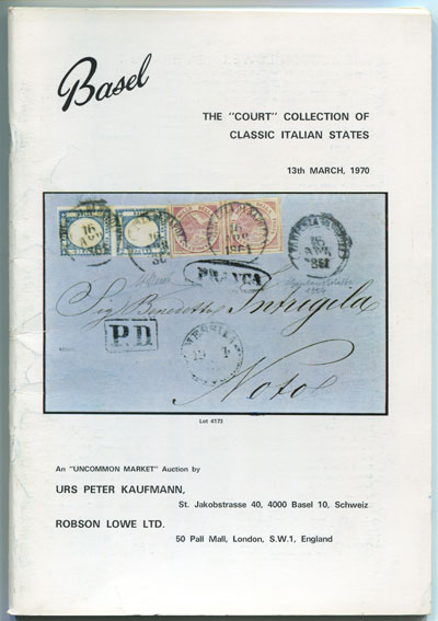 1970 (13 Mar) Court Collection of Italian States.