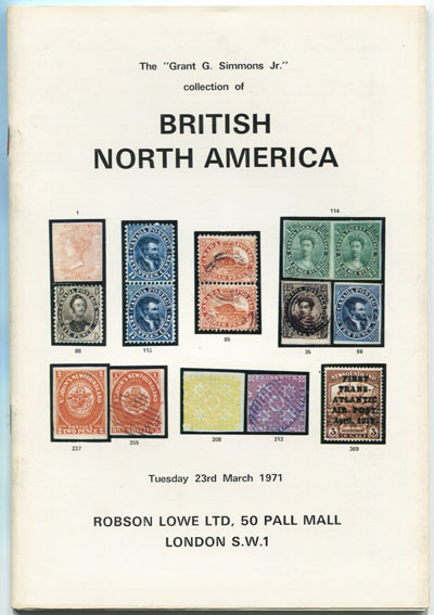 1971 (23 Mar) Grant G. Simmons Jr collection of British North America.