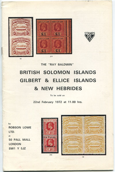 1972 (22 Feb) Ray Baldwin British Solomon Islands, Gilbert & Ellis Is. and New Hebrides.