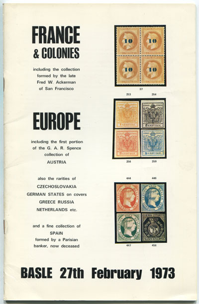 1973 (27 Feb) France & Colonies and Europe.