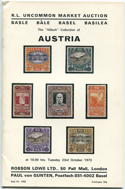1973 (23 Oct) Villach collection of Austria.