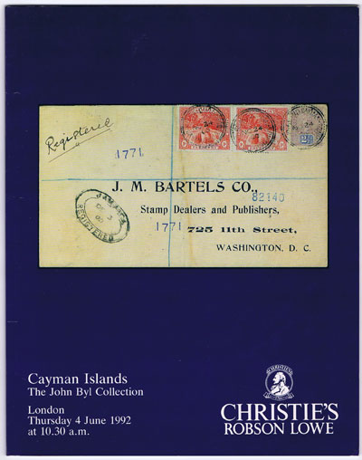 1992 (4 Jun) Cayman Islands. The John Byl collection.