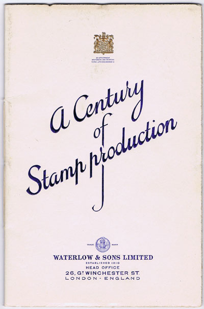 WILLIAMS L.N. & M. Waterlow & Sons Ltd. - A century of stamp production 1852 - 1952.