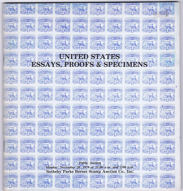 1978 (20 Nov) United States Essays, Proofs & Specimens.