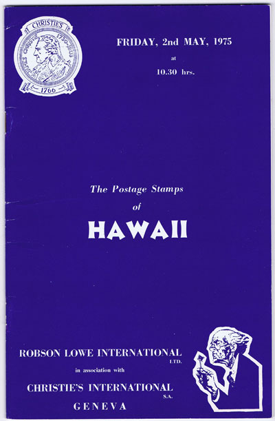 1975 (2 May) Postage stamps of Hawaii.