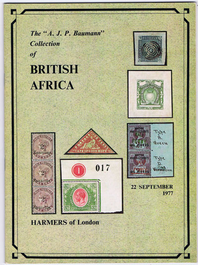 1977 (22 Sep) A.J.P. Baumann collection of British Africa.