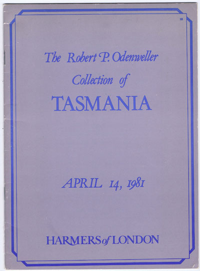 1981 (14 Apr) Robert P. Odenweller collection of Tasmania.