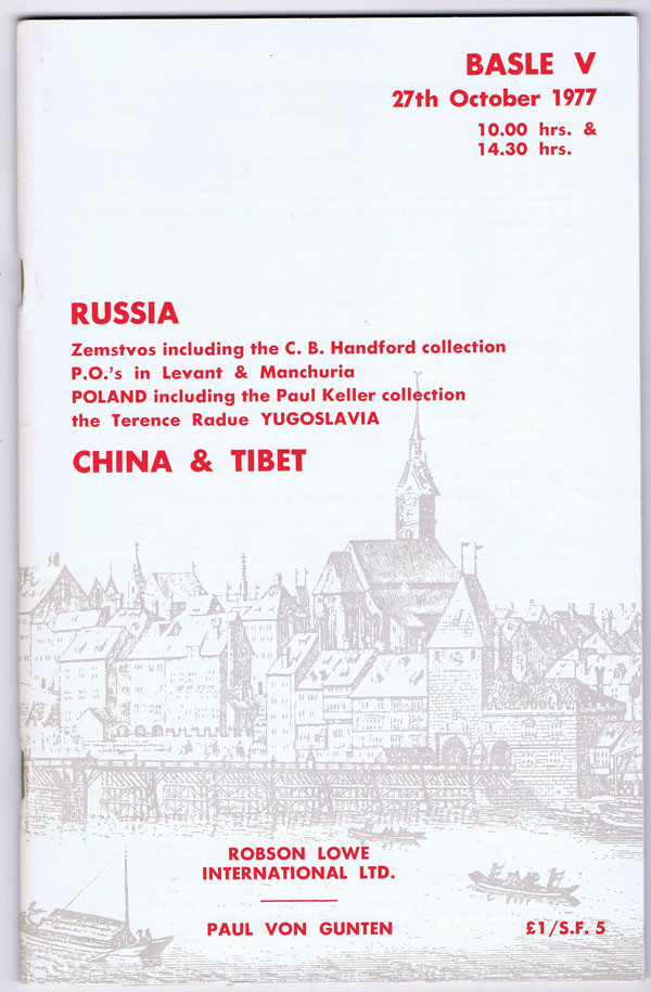 1977 (27 Oct) Russia Zemstvos including the C.B. Handford collection.
