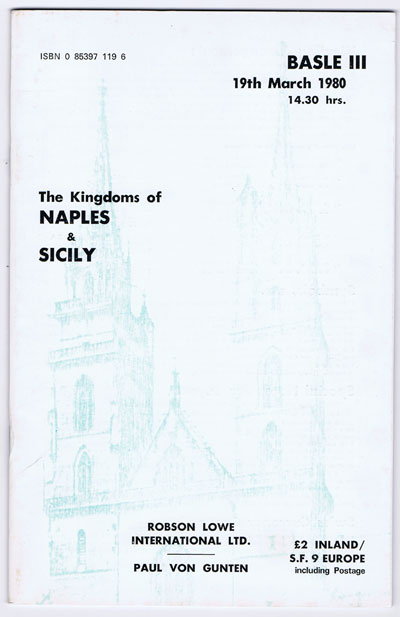 1980 (19 Mar) The Kingdoms of Naples and Sicily.