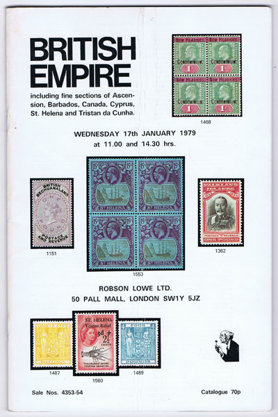 1979 (17 Jan) British Empire including fine sections of Ascension, Barbados, Canada, Cyprus, St Helena and Tristan da Cunha.
