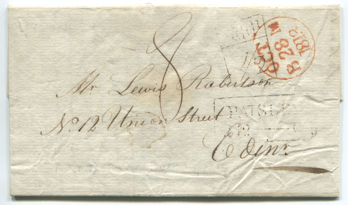 1813 (28 Oct) PAISLEY boxed Add! ½ (H/S110)