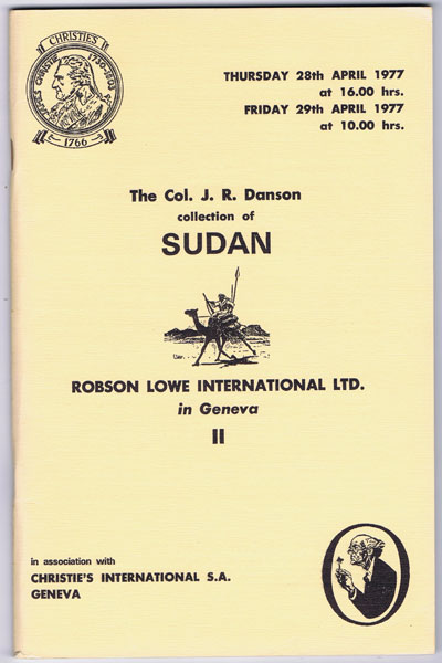 1977 (28 Apr) Col. J.R. Danson collection of Sudan.