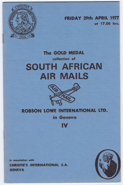 1977 (29 Apr) Gold Medal collection of South African Airmails.