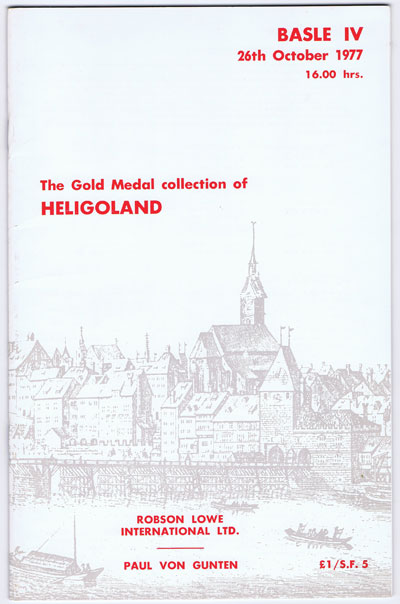 1977 (26 Oct) Gold Medal collection of Heligoland.
