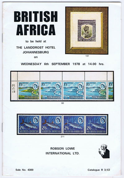 1978 (6 Sep) British Africa with strength in South & S.W. Africa, Southern Rhodesia and post independence Rhodesia.
